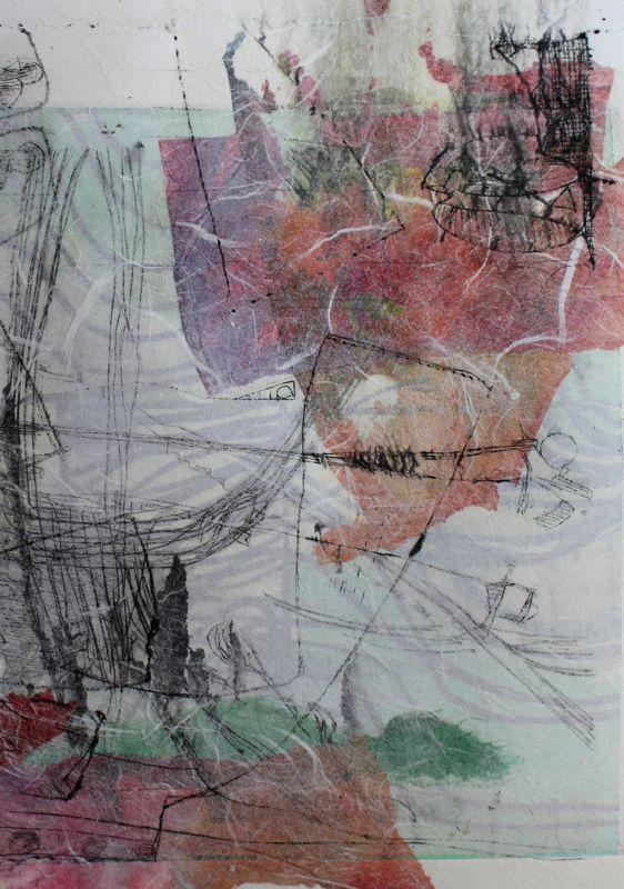 Hazy day Original art print 1/1 300x400 framed $ 420