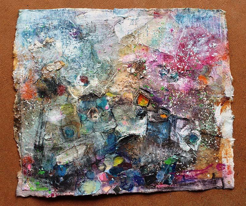 Sweet memories 1/1 Mixografia on handmade paper Framed 435x535 $425