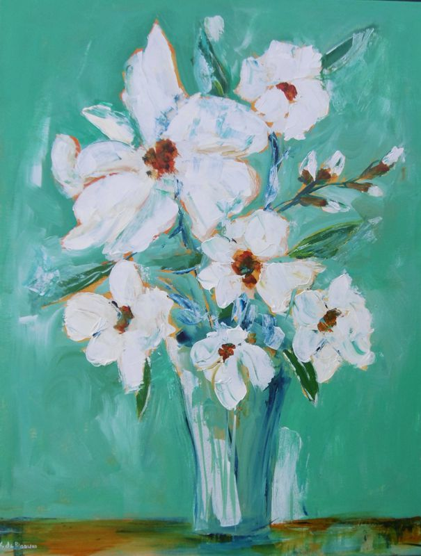 Flowers from my garden Acrylic on canvas  71 x 56 cm $450