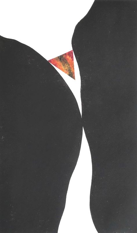 The Wedge Collagraph  2/5 VE 24w x40h  $490 (Framed)