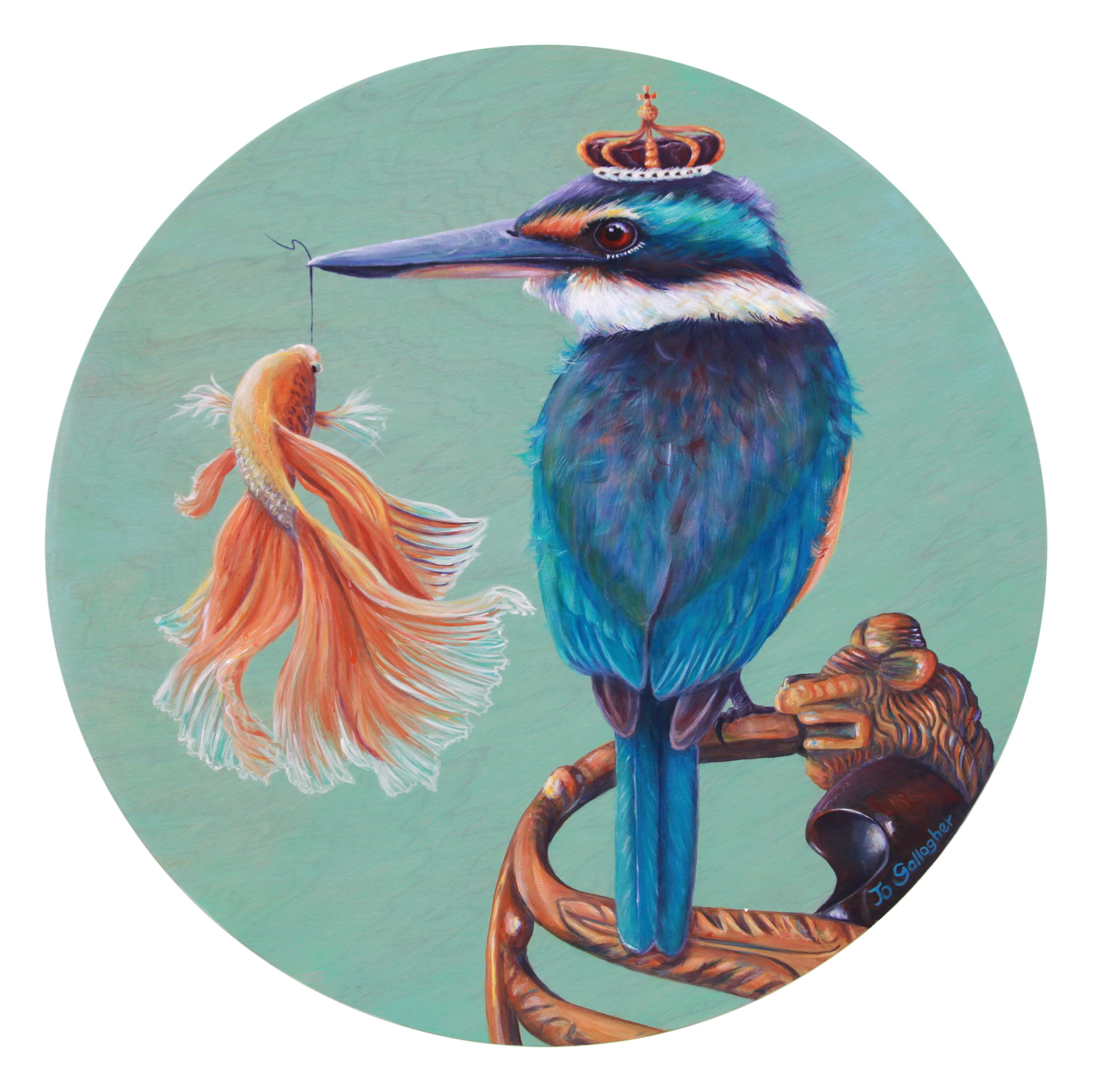 The Fantail and the King 500mm SOLD
