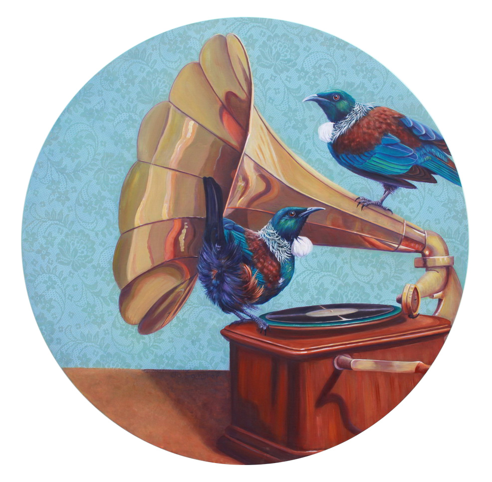 Tui Records Inc 800mm acrylic on board SOLD