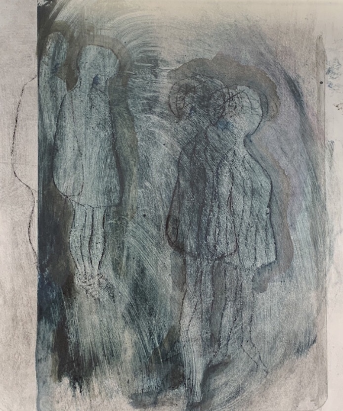 <strong>Awakening </strong> Collagraph SOLD