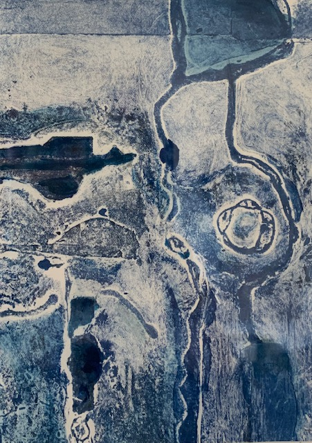 <strong>Ocean Dreaming</strong> Original Collagraph 340mm x 410mm