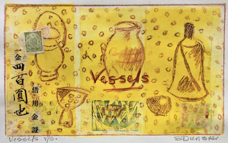 Vessels Etching and mixed media